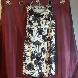 Petite 12 dress. Midi, tan and Brown